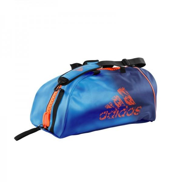 b47deb7c9fb9 Sac Judo Adidas convertible bleu et orange solar  résistant et tendance