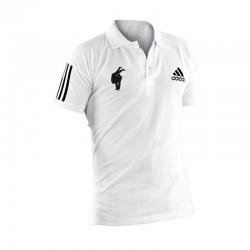 Polo Judo Adidas Blanc