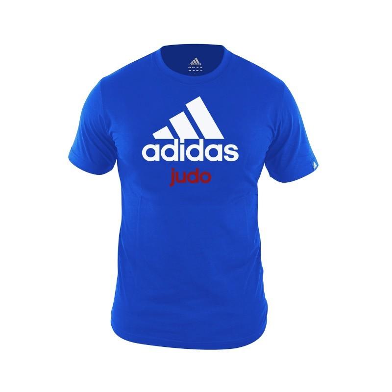 tee shirt adidas bleu