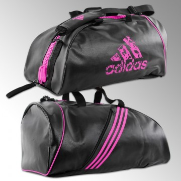 innovative design popular stores fashion style Sac de Judo Adidas Noir et Rose: convertible en sac à dos