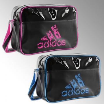 c69395f9eb Sac de sport bandoulière Adidas noir et bleu/rose pour le judo