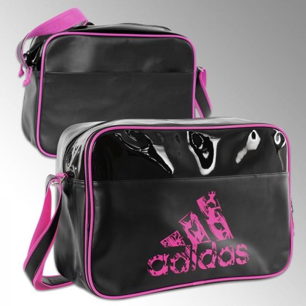 074f0c3021 Sac de sport bandoulière Adidas noir et bleu/rose pour le judo