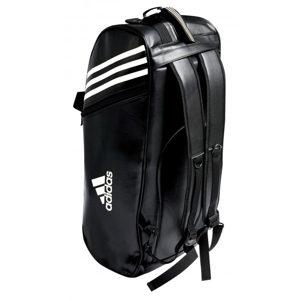 sac adidas convertible noir et blanc pour les sports de combat. Black Bedroom Furniture Sets. Home Design Ideas