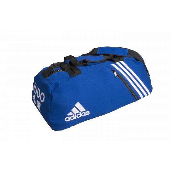sac de judo convertible adidas bleu pour les sports de combat. Black Bedroom Furniture Sets. Home Design Ideas