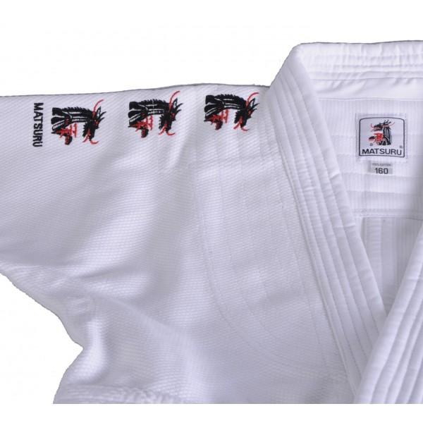 Kimono Judo Matsuru Mondial avec broderies Blanc 052, Judogi blanc